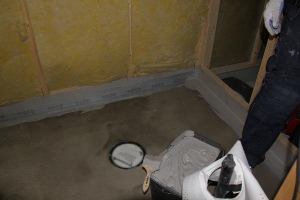 Avretting av gulv med sluk